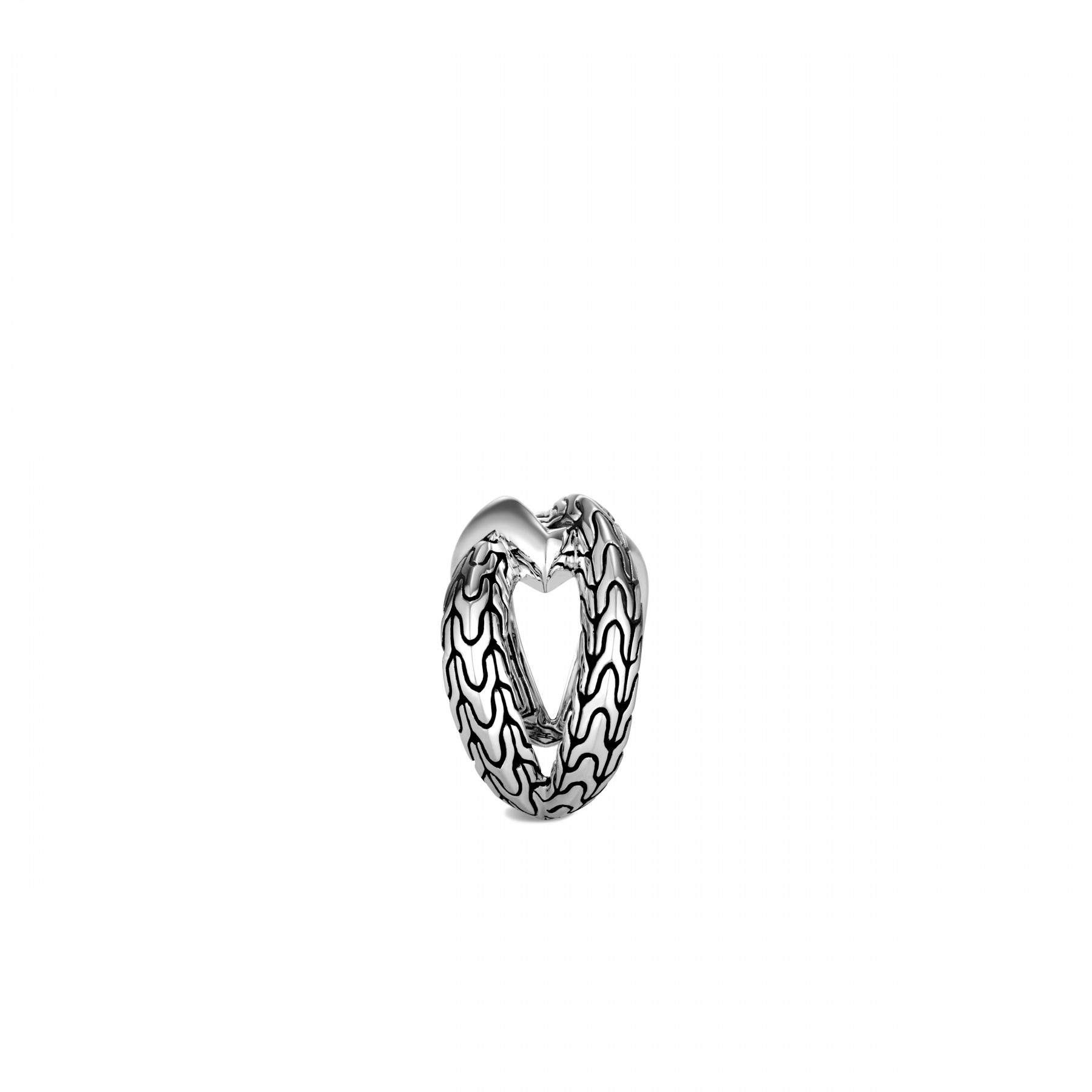 John Hardy Classic Chain Interlinked Silver Ring side view