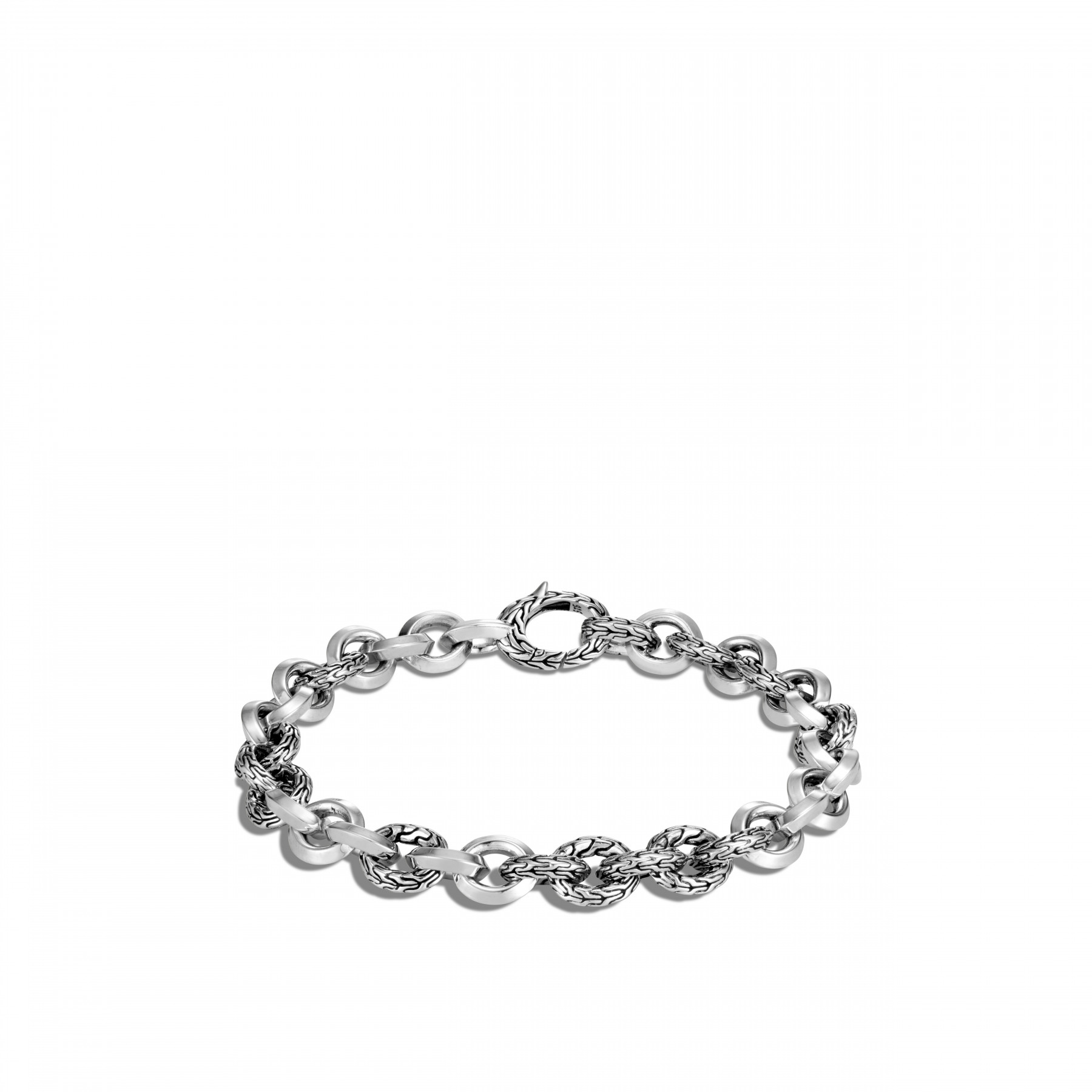 John Hardy Classic Chain Sterling Silver Link Bracelet front view
