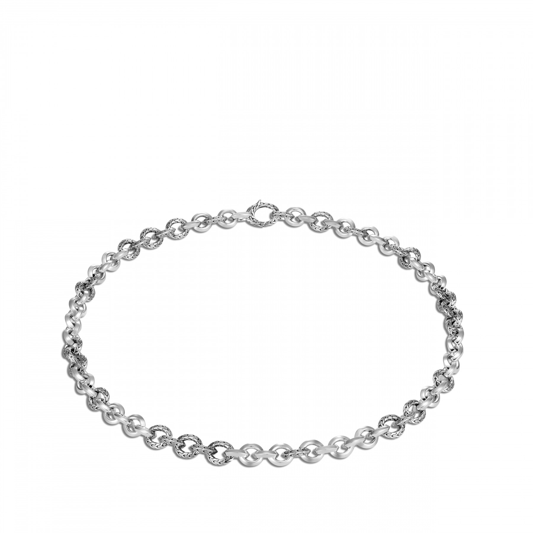 John Hardy Classic Chain Silver Link Necklace - 8.1mm flat view