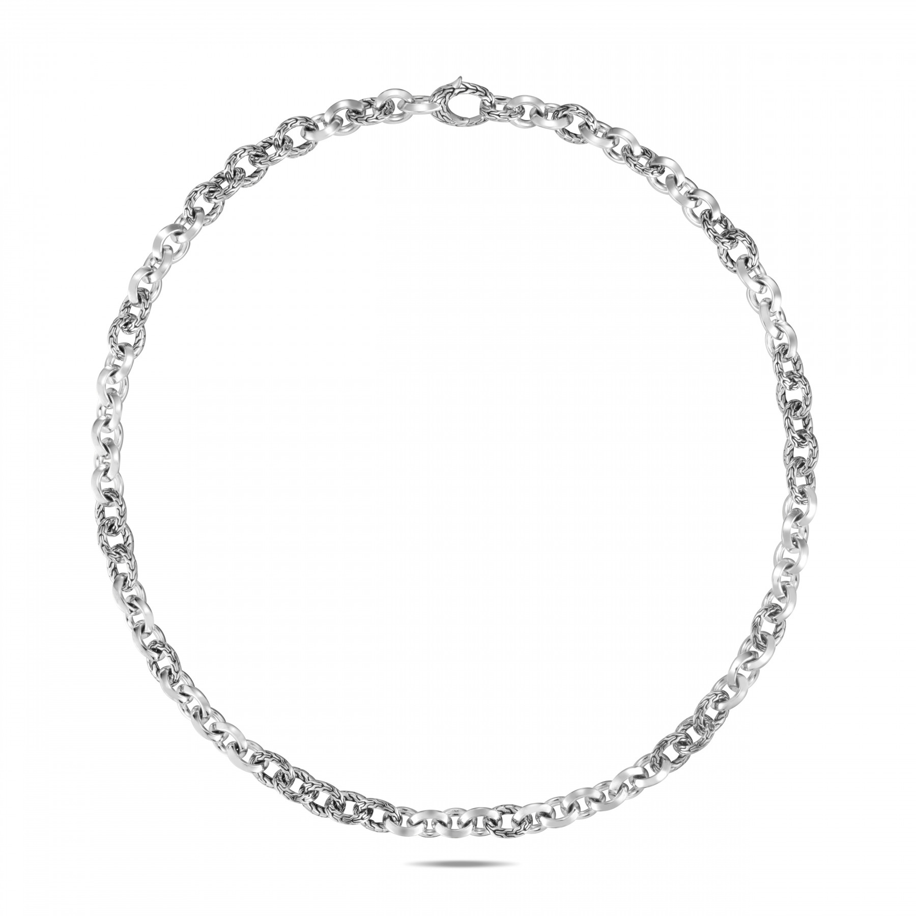John Hardy Classic Chain Silver Link Necklace - 8.1mm front view