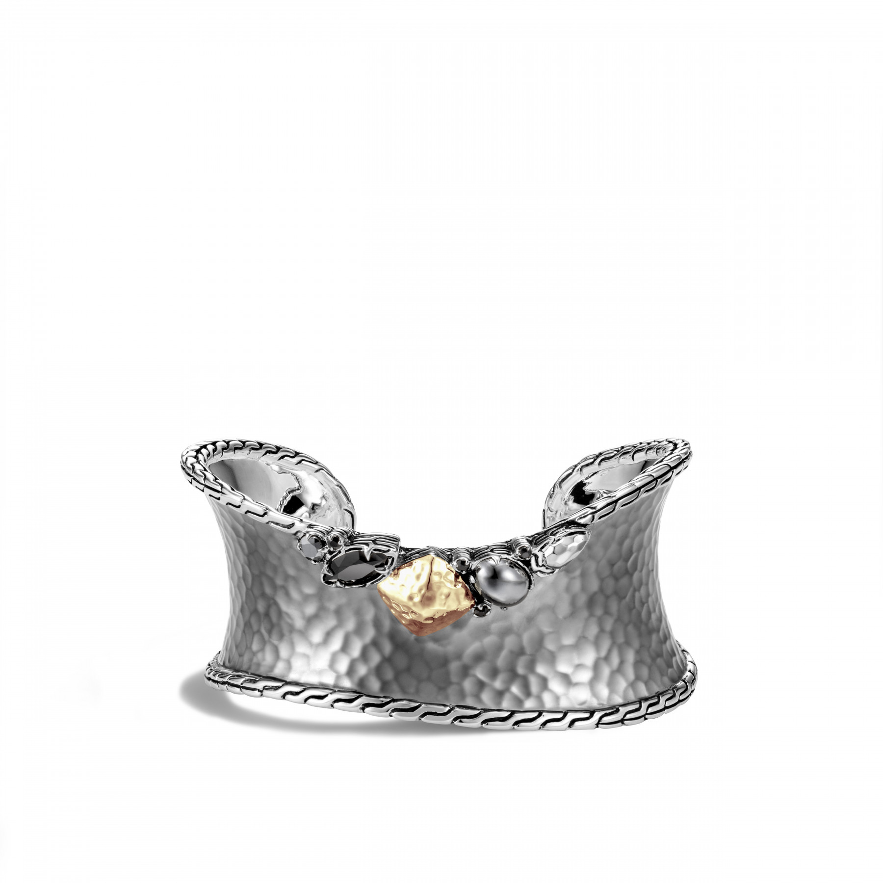 John Hardy Classic Chain Two Tone Cuff - 33mm front view
