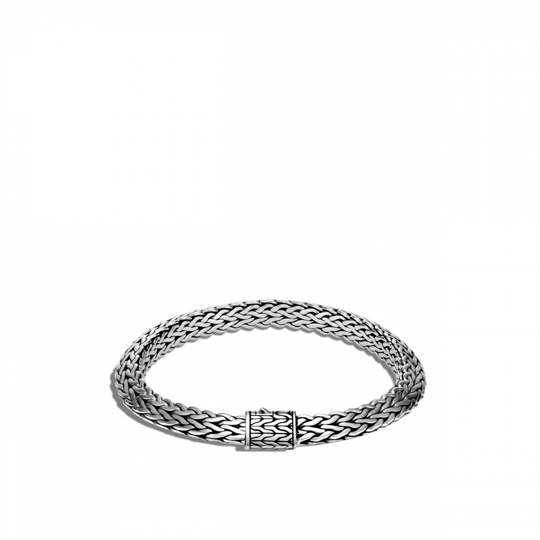 John Hardy Classic Chain Silver Tiga Bracelet - 8mm front view