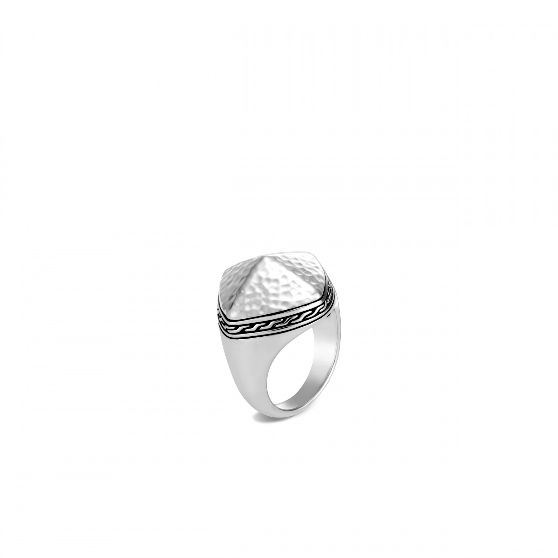 John Hardy Classic Chain Silver Ring front view