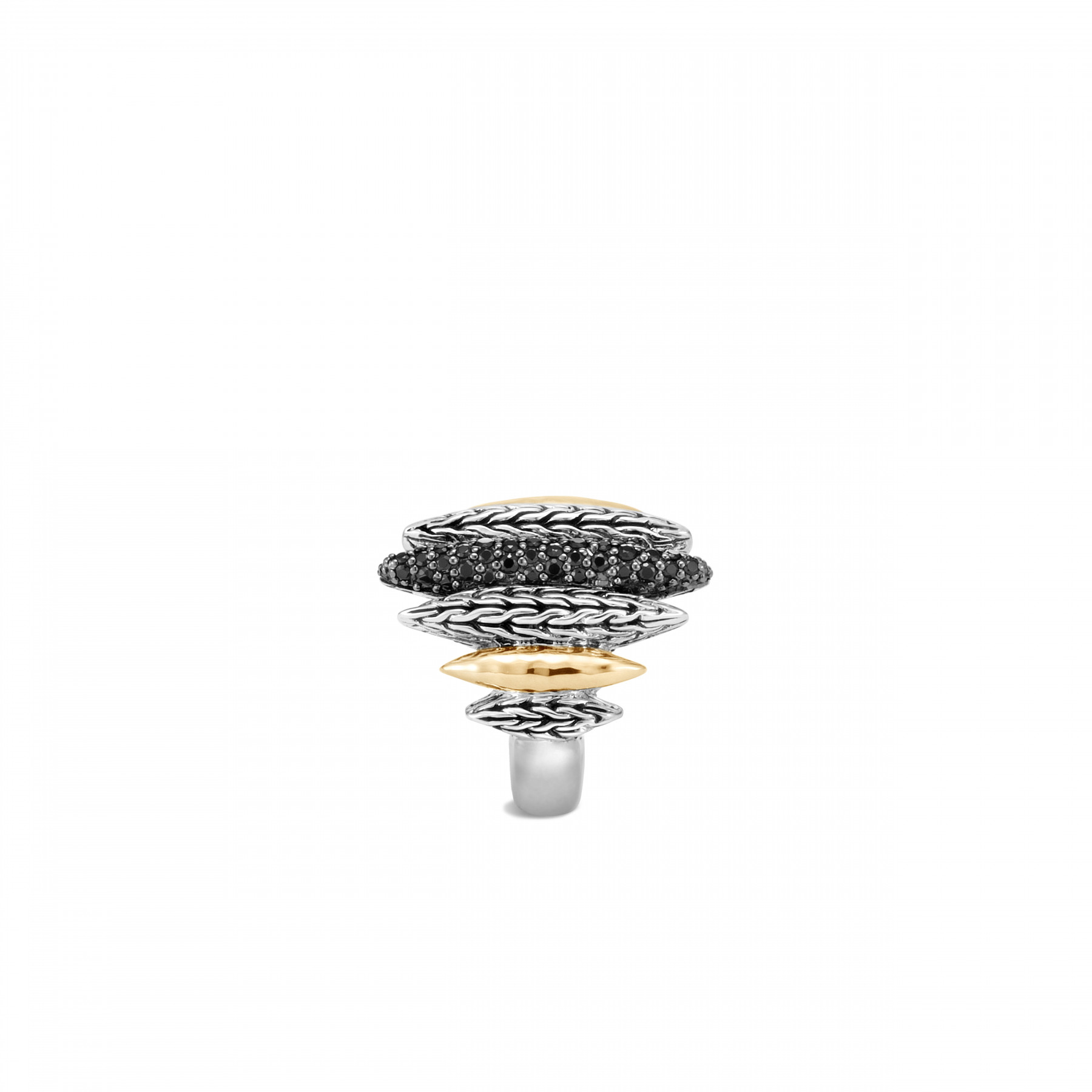 John Hardy Classic Chain Mixed Metal Spear Ring side view