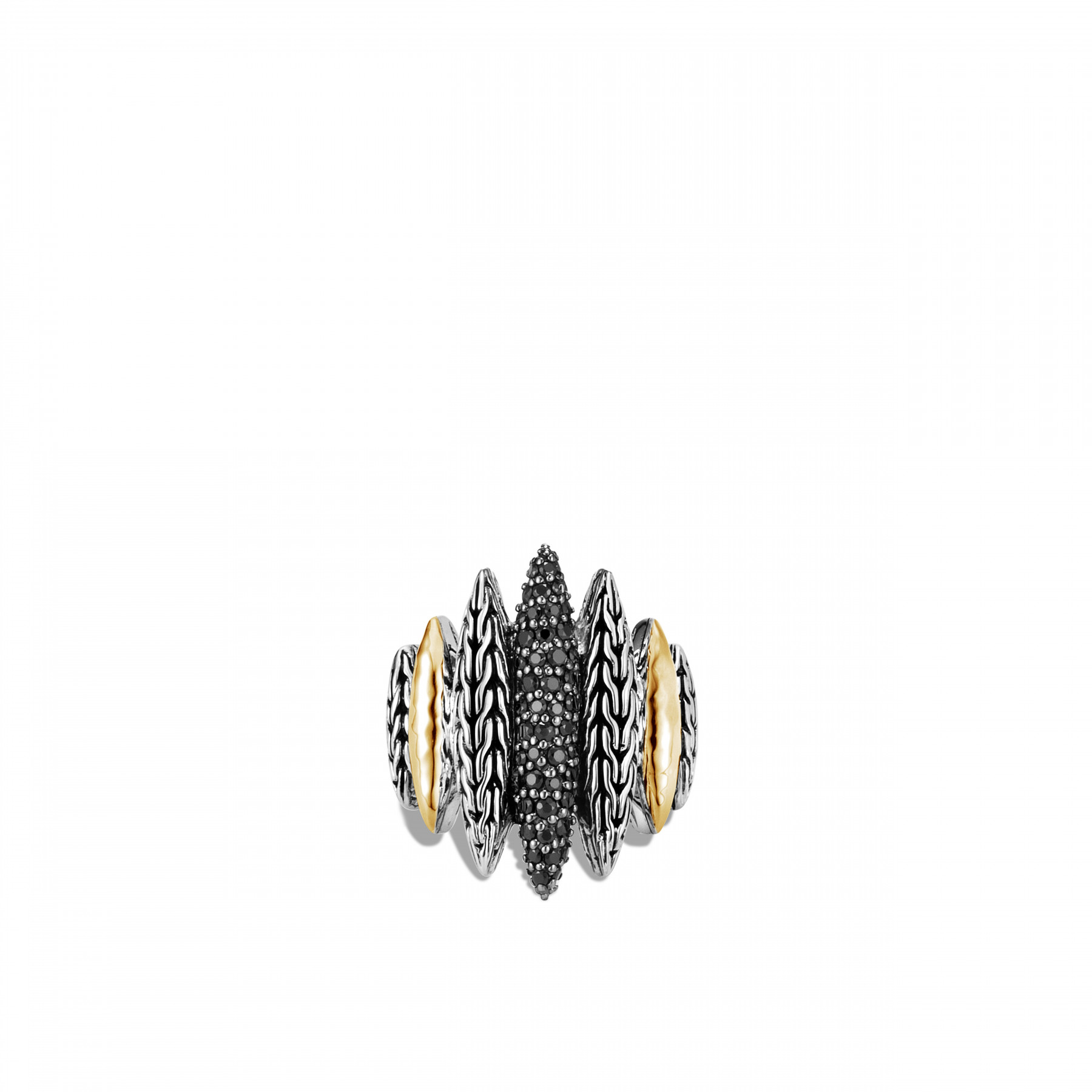John Hardy Classic Chain Mixed Metal Spear Ring top view