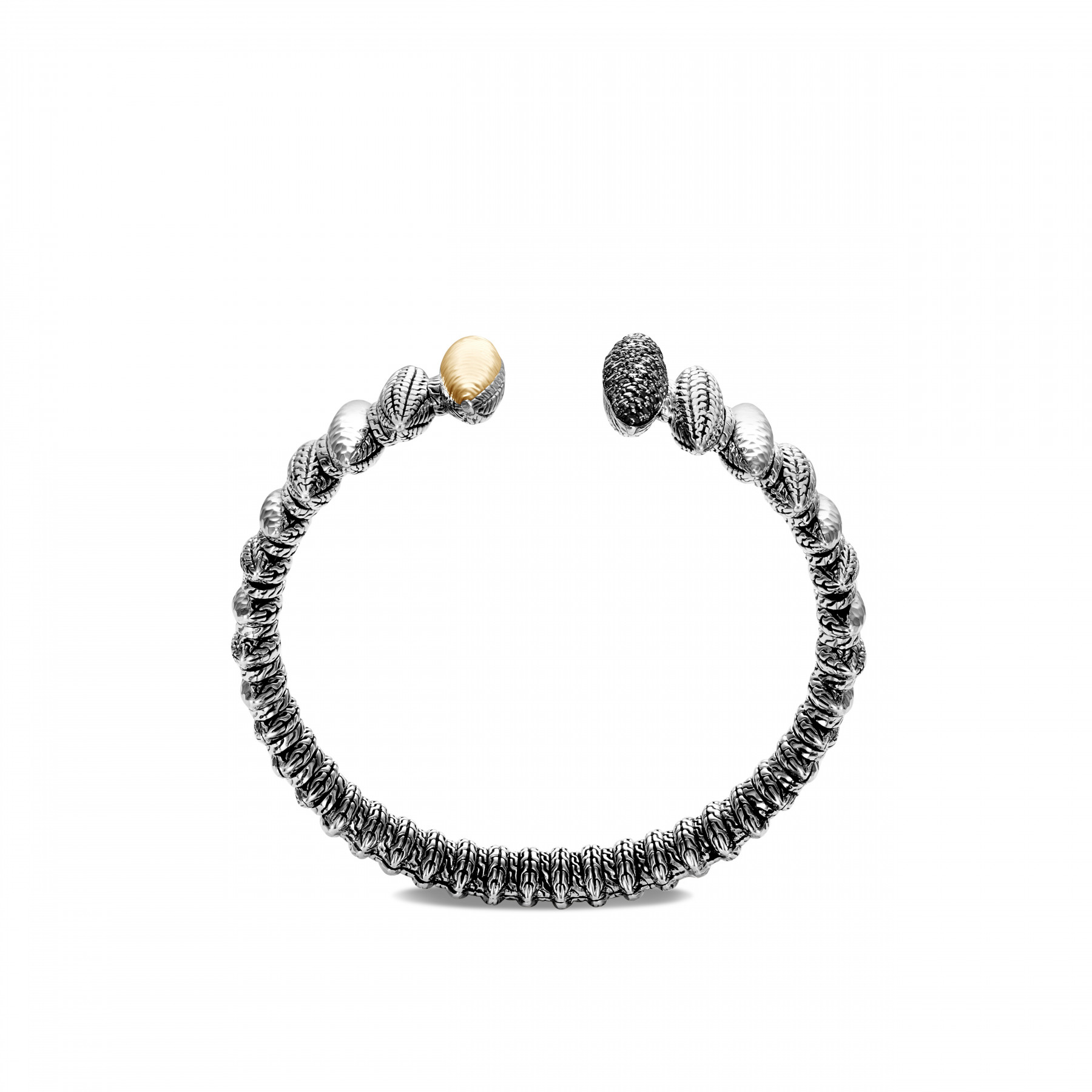 John Hardy Classic Chain Spear Two Tone Open Cuff side view