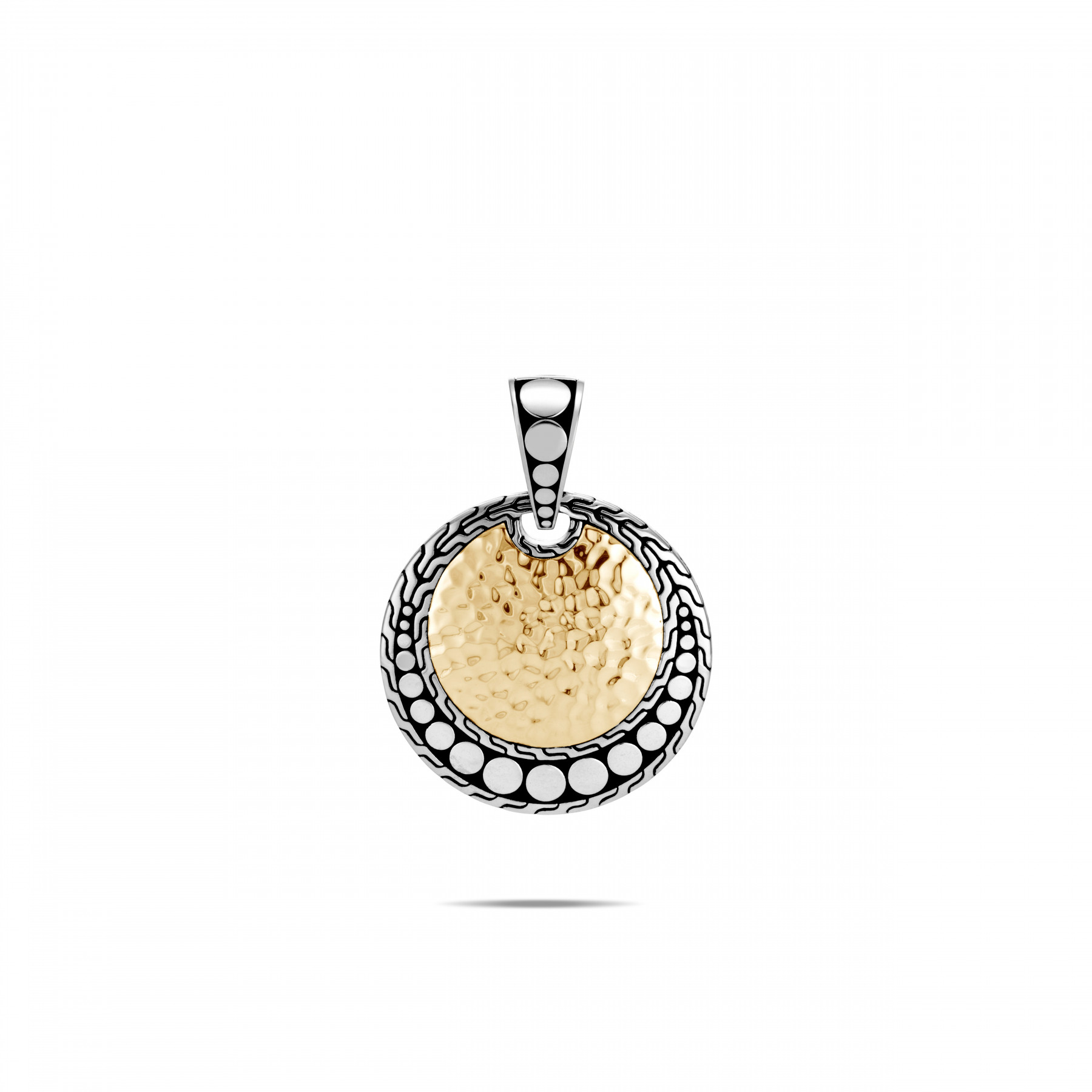 John Hardy Dot Two Tone Round Pendant front view