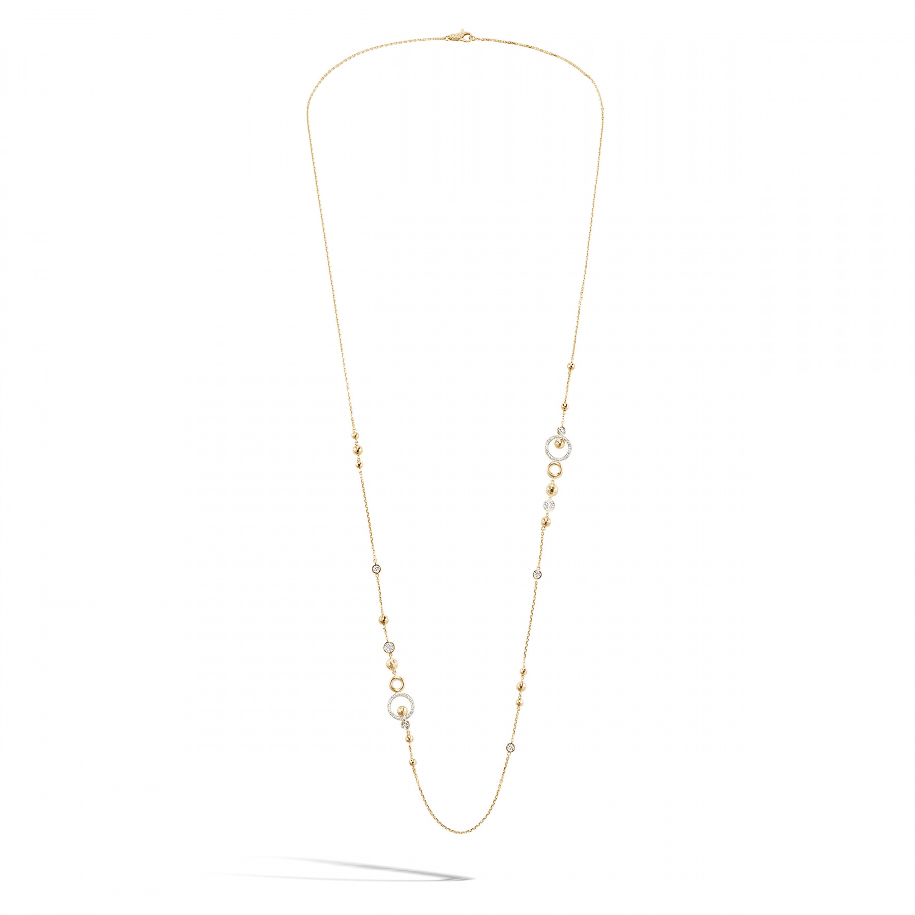 John Hardy Dot Hammered Station Necklace with Diamonds alt 2