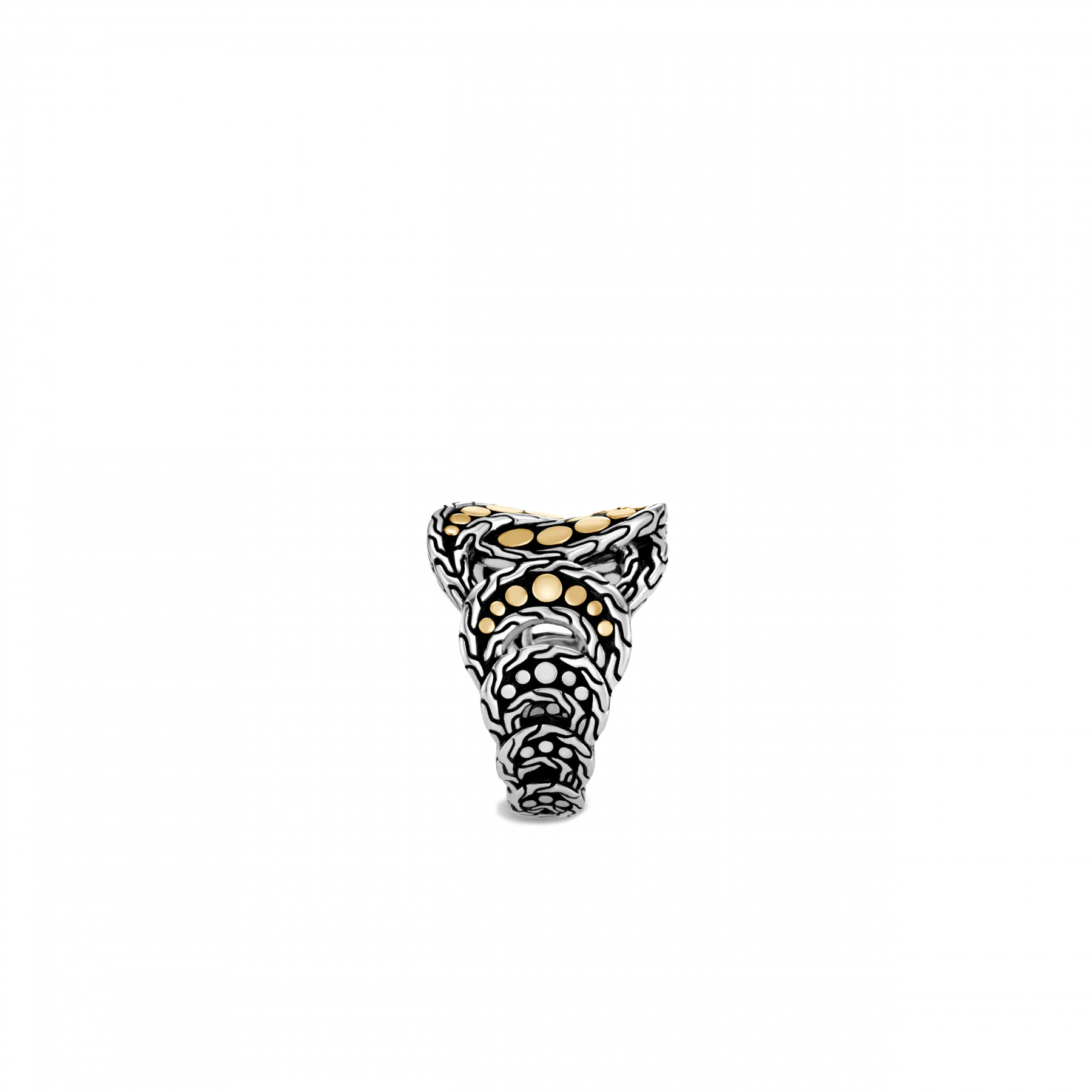 John Hardy Dot Two Tone Linked Ring side view