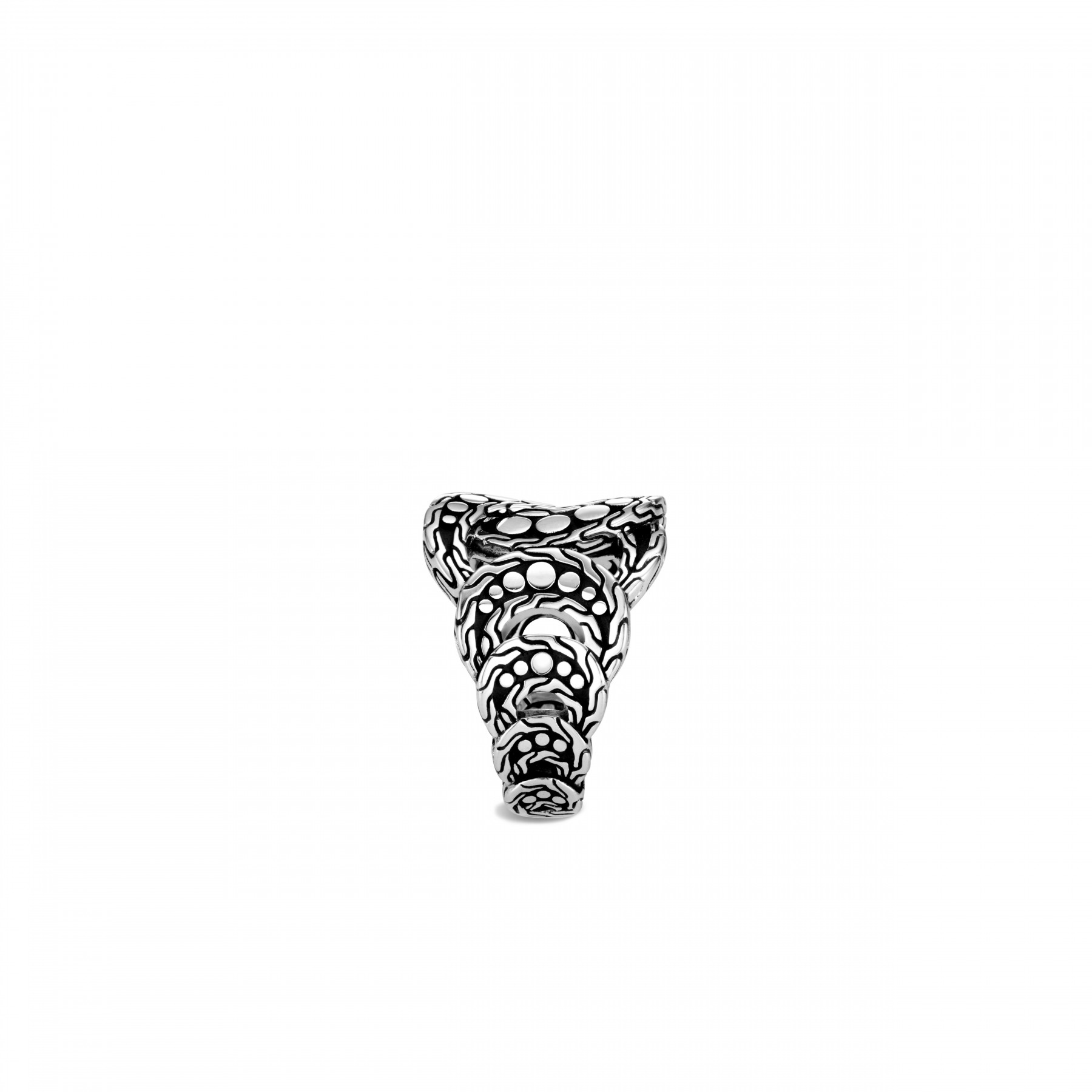 John Hardy Dot Silver Linked Ring side view