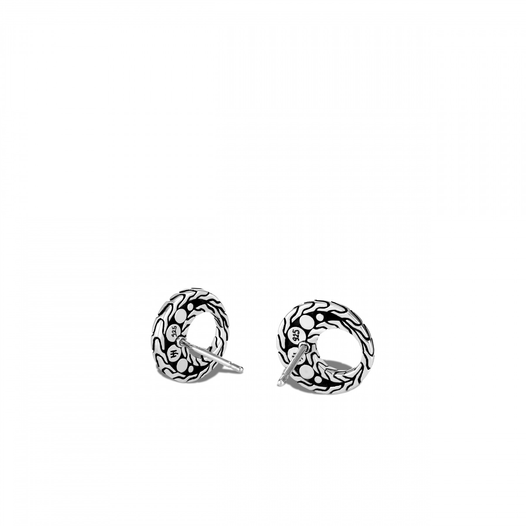 John Hardy Dot Open Oval Silver Studs back view