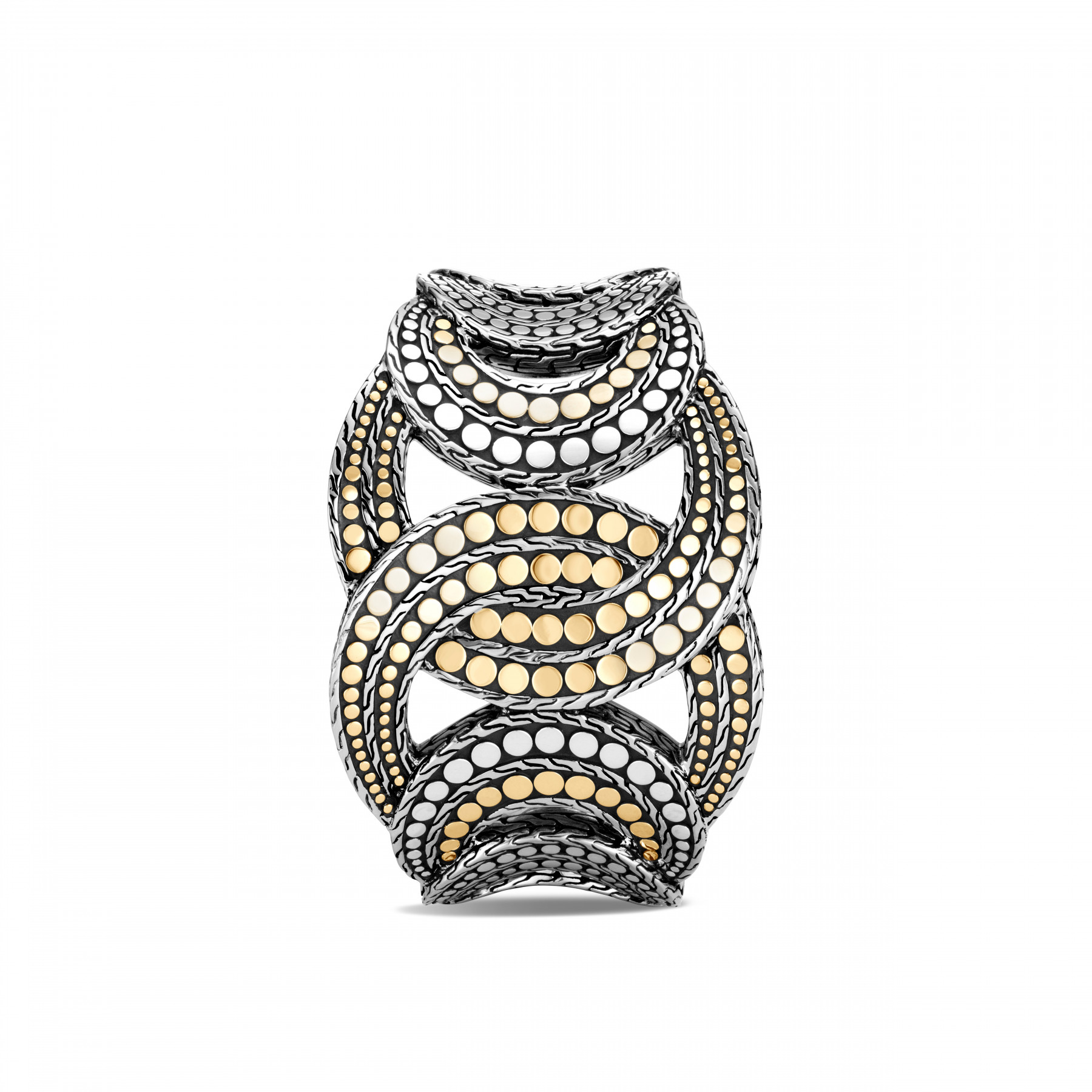 John Hardy Dot Interlinked Two Tone Cuff top view