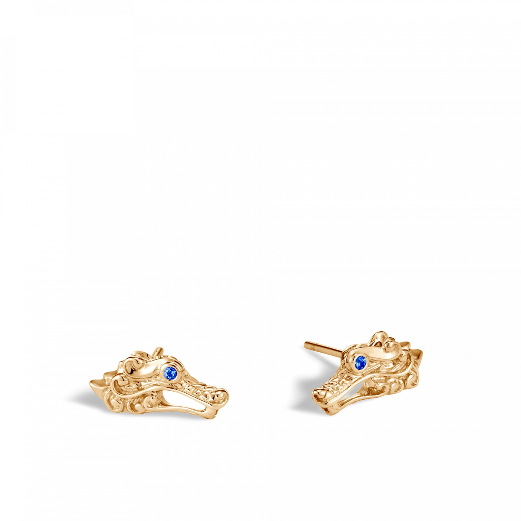 John Hardy Legends Naga Dragon Stud Earrings in 18k Yellow Gold