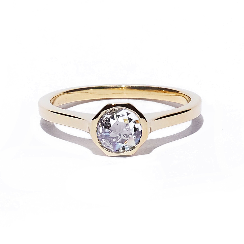 KATKIM Rosecut Cosma Engagement Ring in Yellow Gold