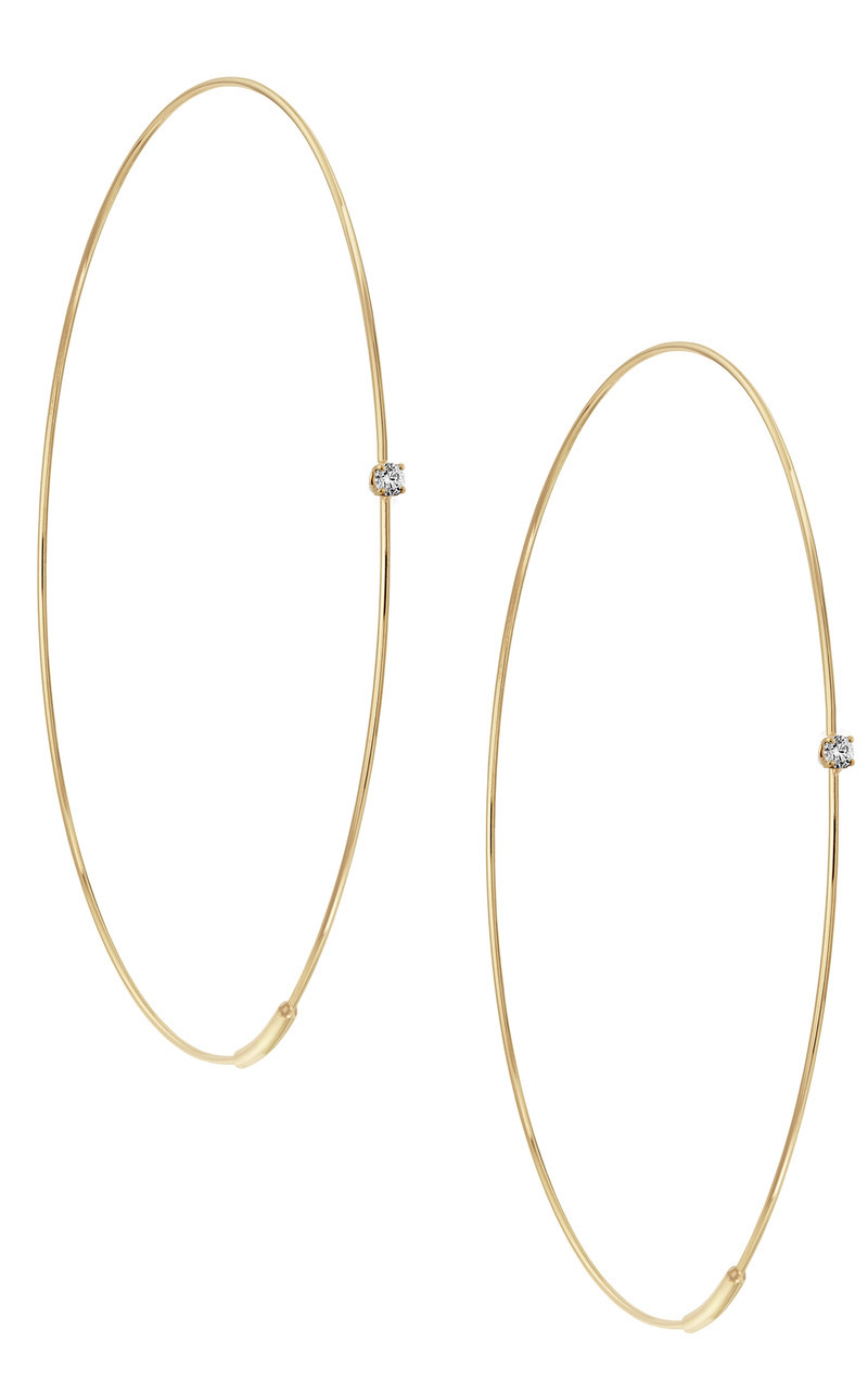 Lana Large Diamond Hoop Earrings in 14K Gold