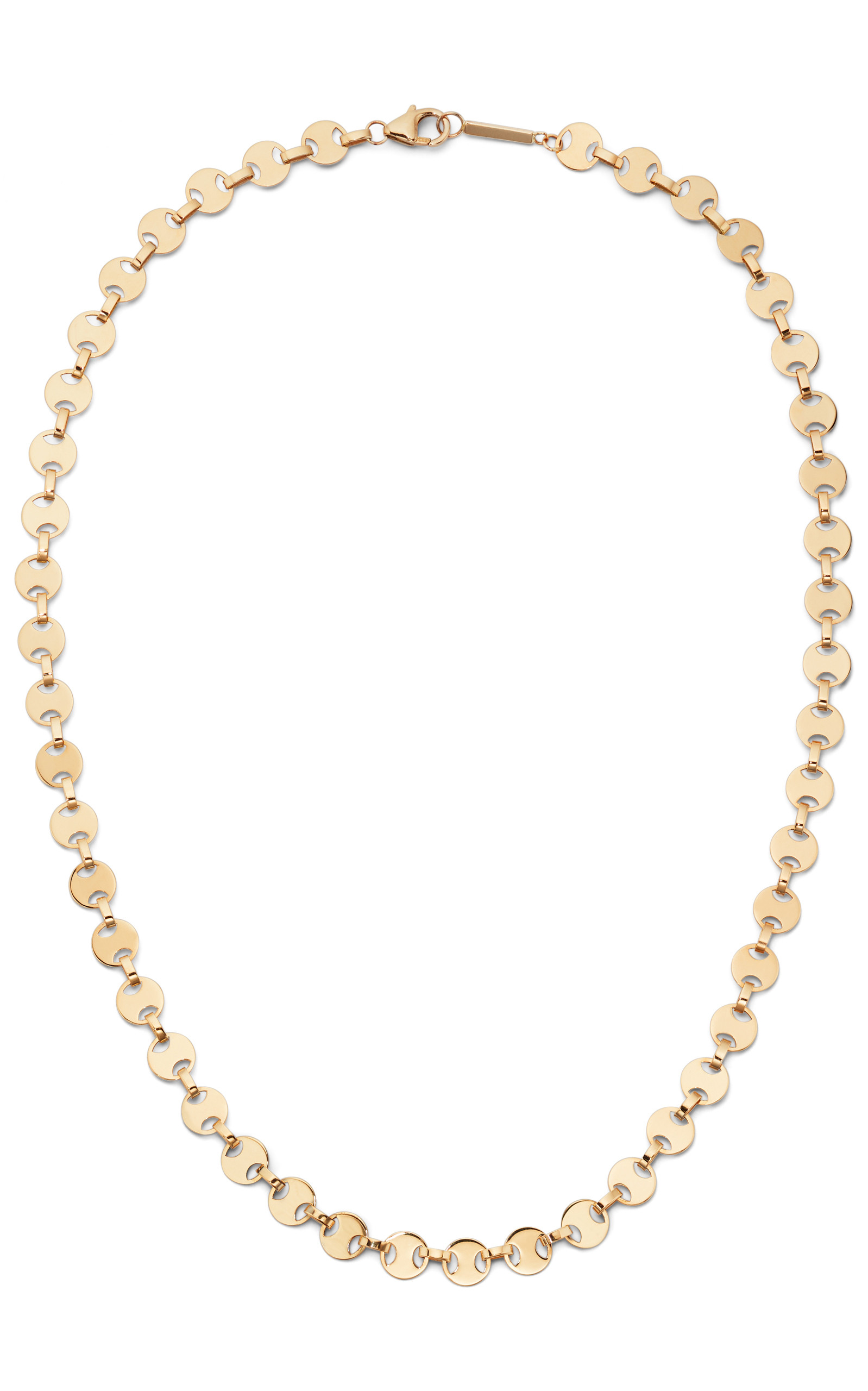 Lana Rodeo 14K Gold Flat Chain Choker Necklace front view