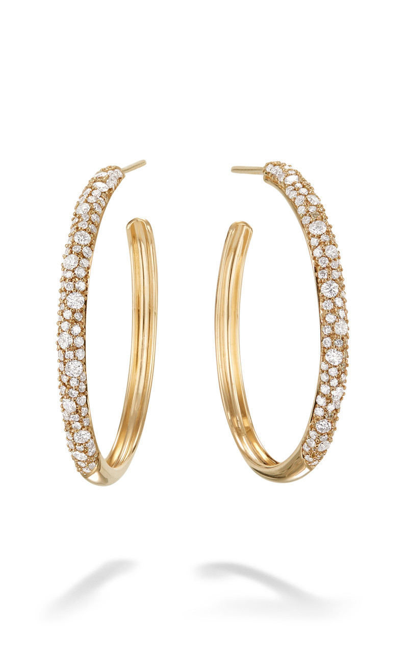 Lana 30mm Diamond Hoop Earrings in 14K Gold