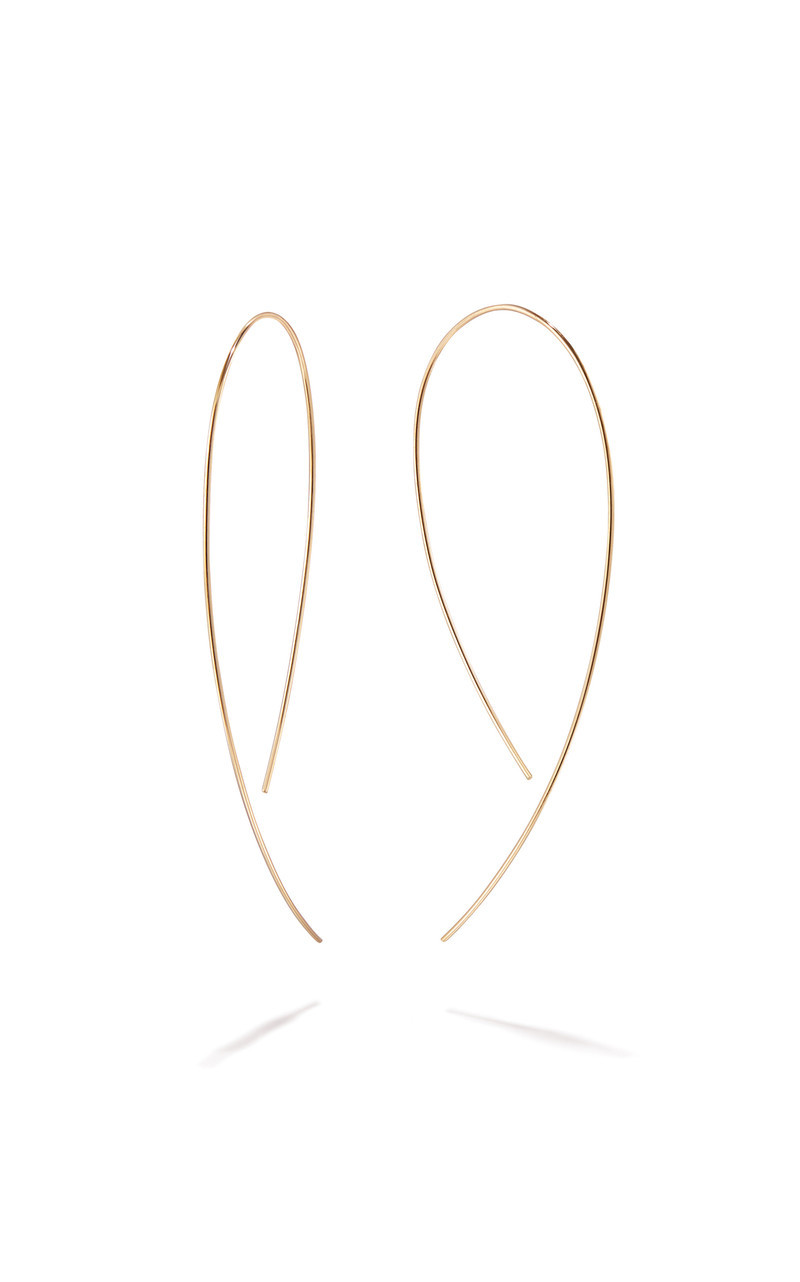 Lana Threader Hook 14K Gold Hoop Earrings main view