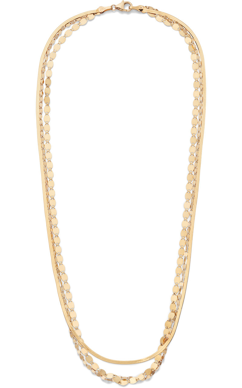 Lana 14K Gold Multi Chain Layered Necklace