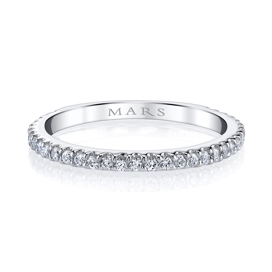 MARS Ever After Pave Diamond Wedding Ring Band