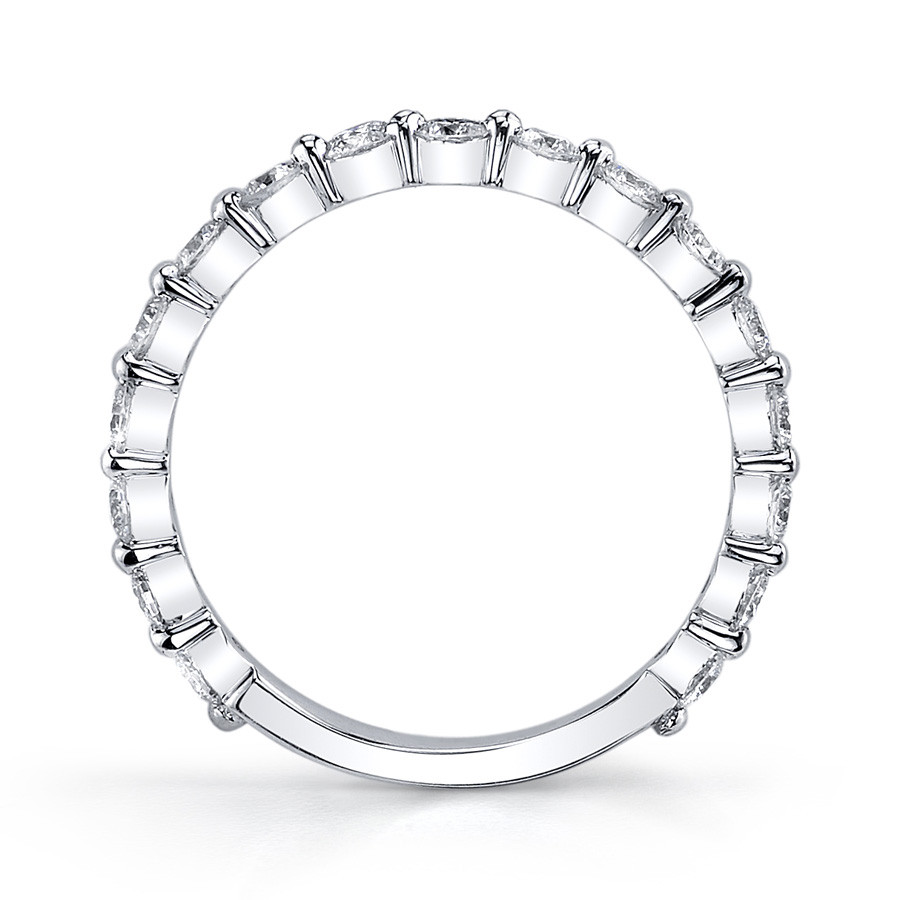 MARS Ever After Shared Prong Diamond Wedding Ring Band Side View