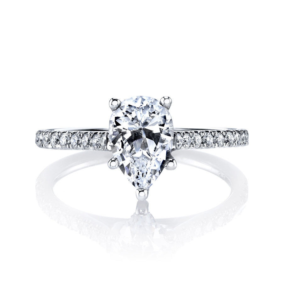 MARS Ever After Pear Shaped Diamond Engagement Ring Setting