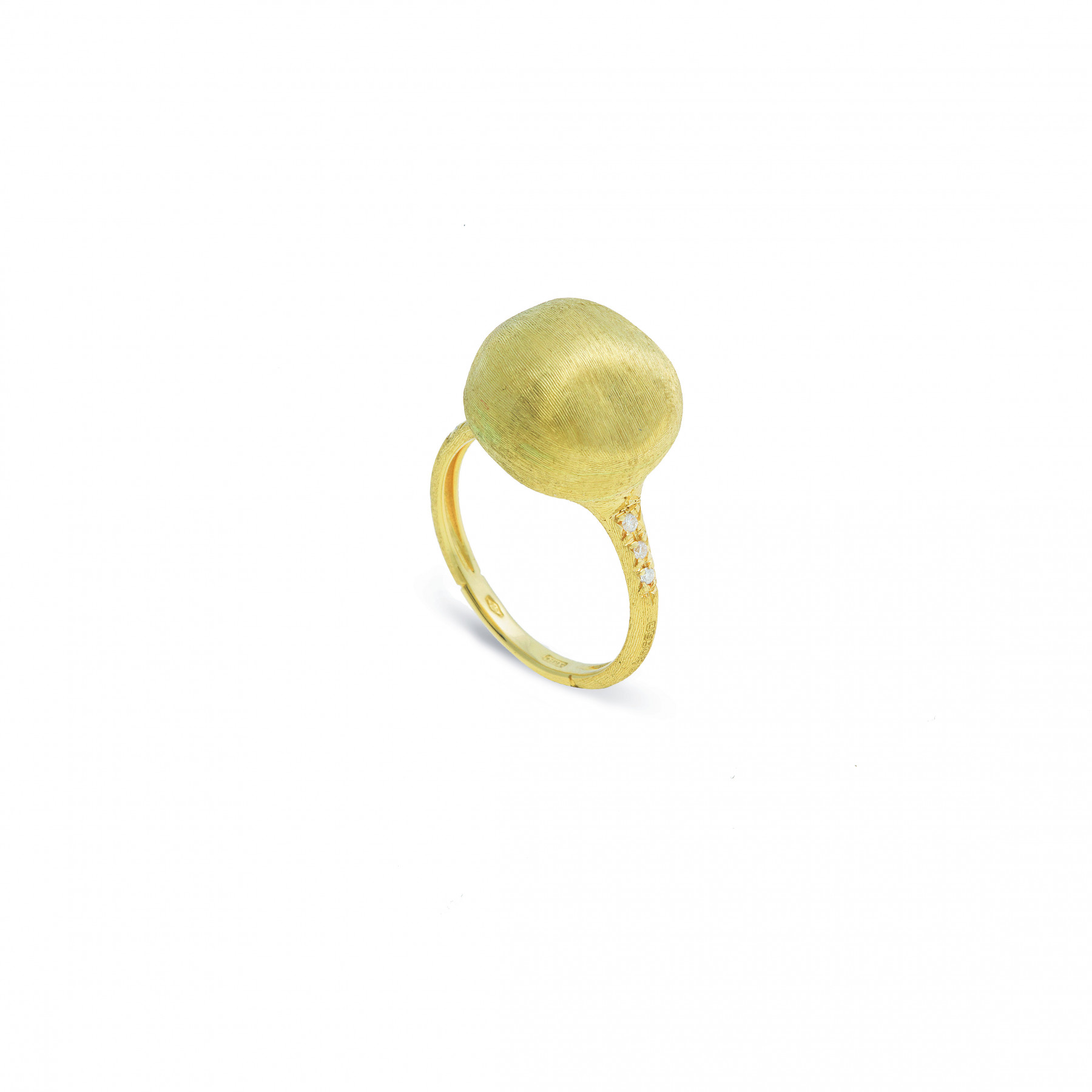 Marco Bicego Africa Boules 18K Gold Ring with Diamonds