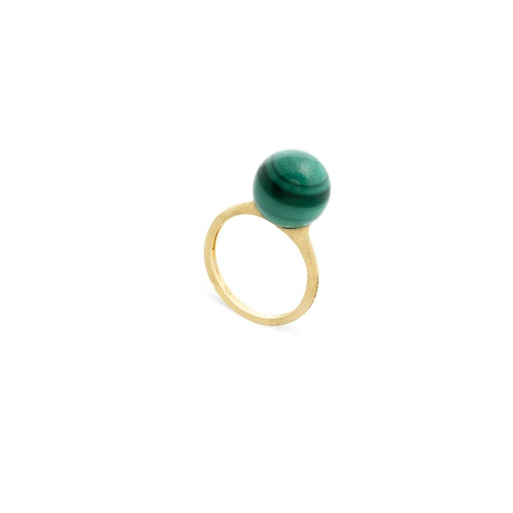 Marco Bicego Africa Boules Malachite Ring in 18K Gold