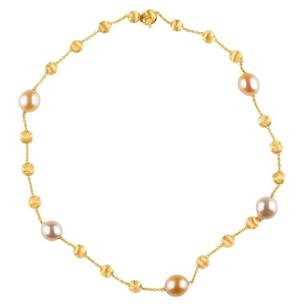 Marco Bicego Africa 18kt Yellow Gold Necklace with Mix Pearls
