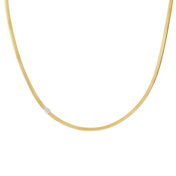 Marco Bicego Masai Yellow Gold Single Station Diamond Necklace
