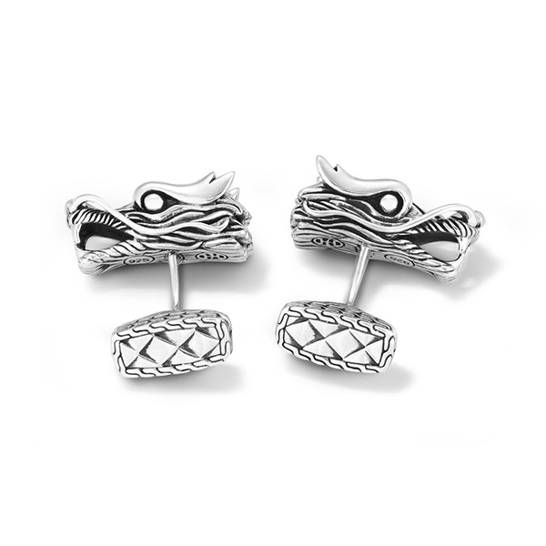 John Hardy Naga Dragon Sterling Silver Cufflinks