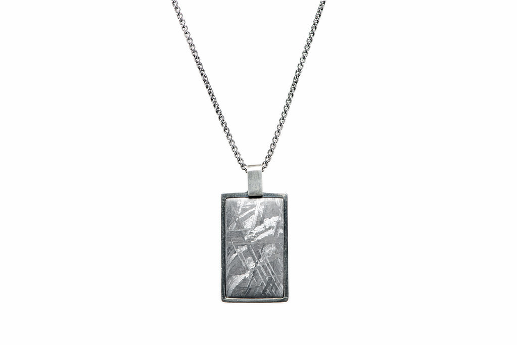 William Henry Meteorite Pinnacle Dog Tag Necklace Front