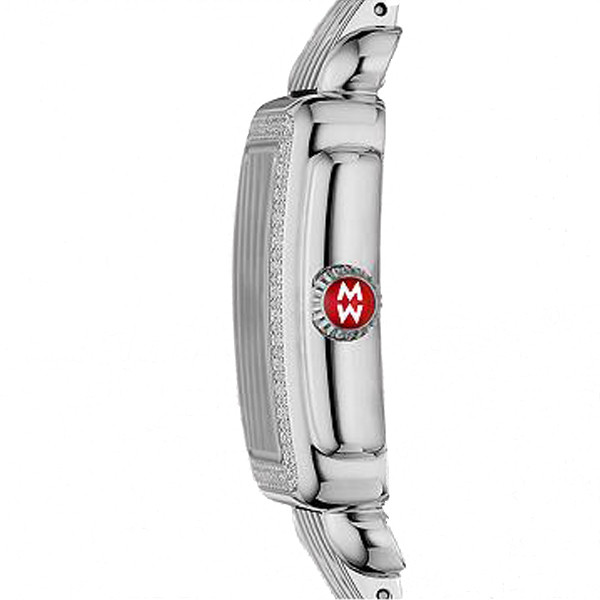 Michele Deco Stainless Steel and  Diamond Saddle Wrap Watch side