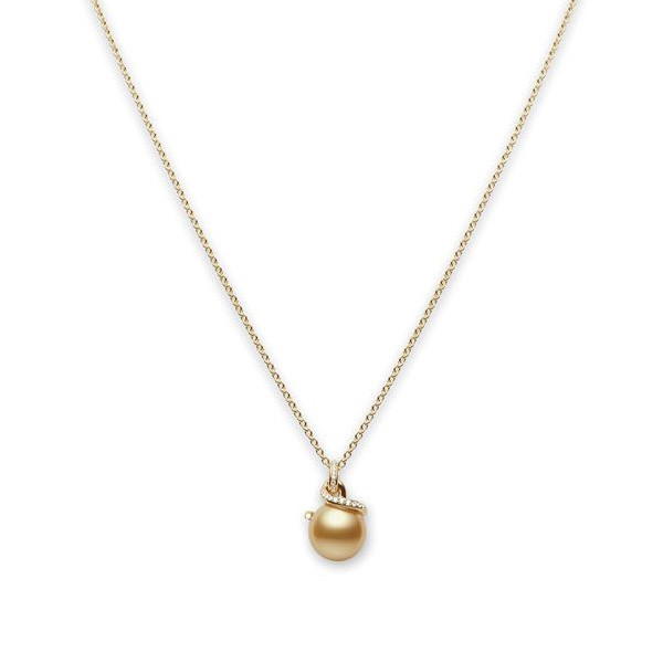 Mikimoto Twist Golden South Sea Pearl Dangle Pendant