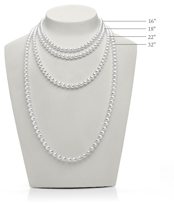 Mikimoto Akoya Pearl Necklace, Bracelet and Studs Box Set Size Guide