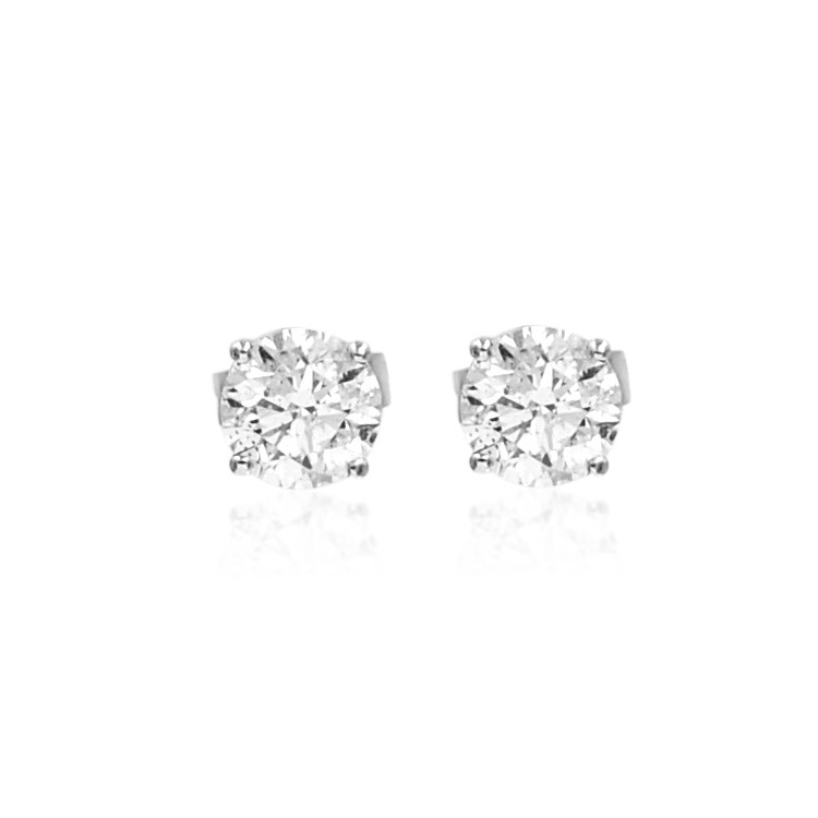 White Gold 1.44ctw Diamond Stud Earrings