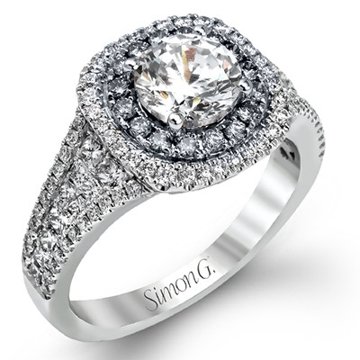 Simon G MR2453 Passion Pave Double Halo Engagement Setting