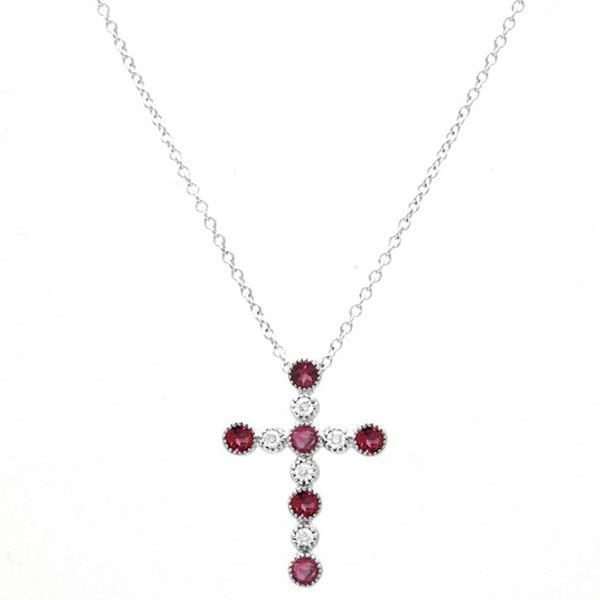 Ruby Large Cross Necklace