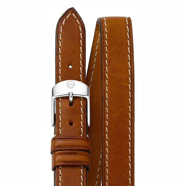 Michele 16mm Saddle Calf Skin Double Wrap Strap