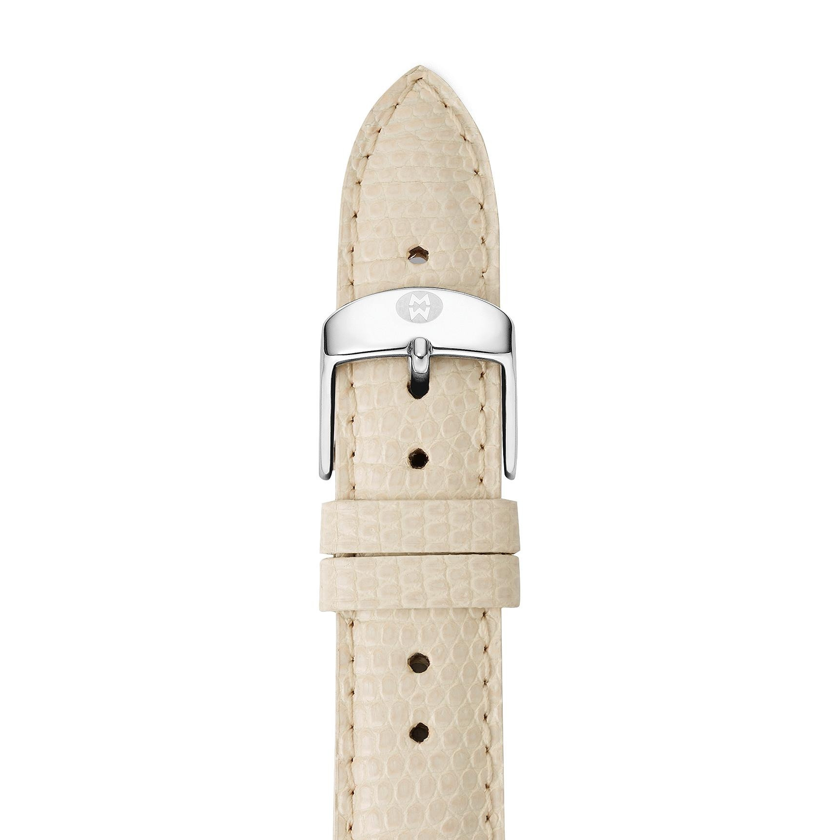 Michele Vanilla Lizard 16mm Strap