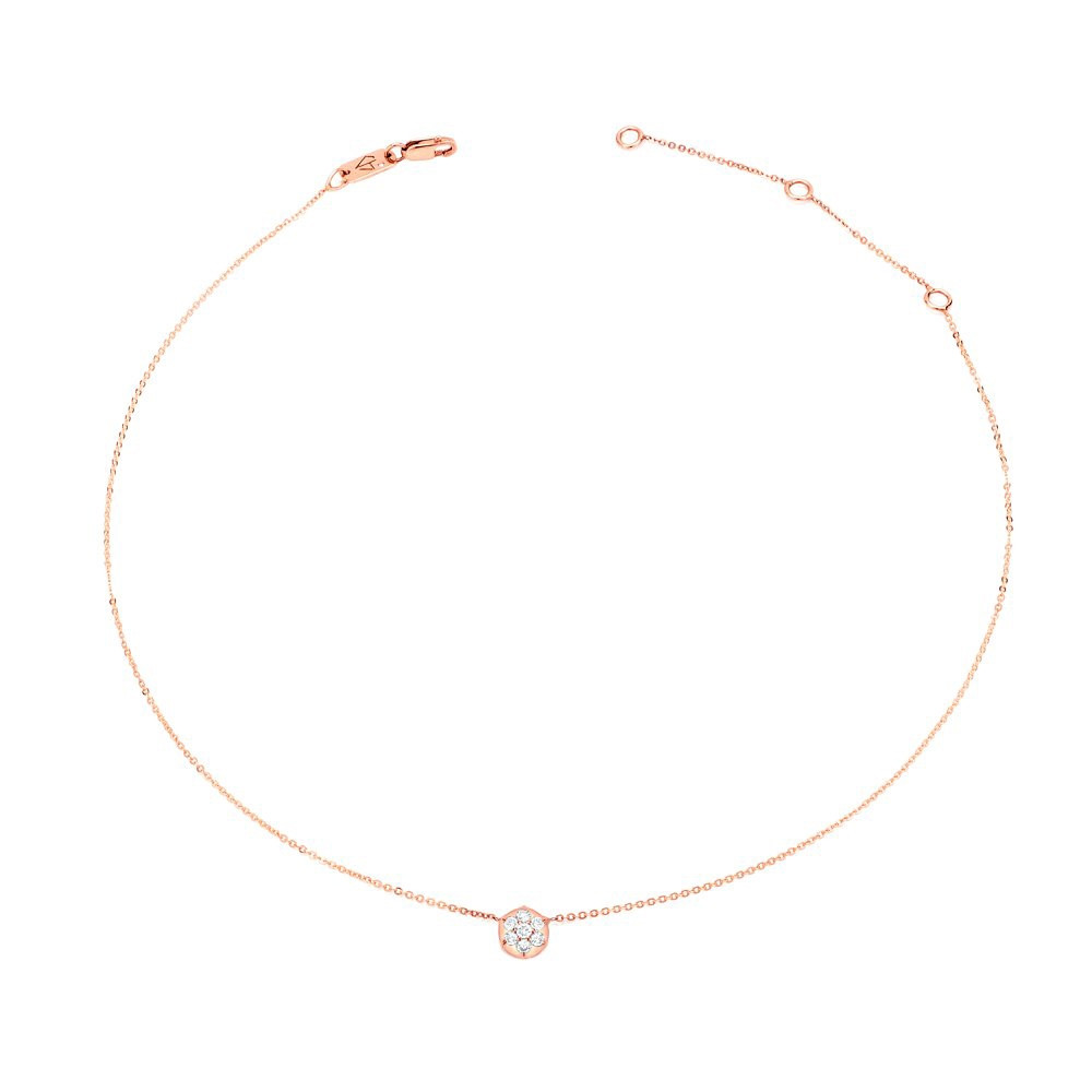 Rose Gold Bullet Diamond Choker Necklace by Carbon & Hyde