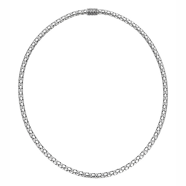 """John Hardy Dot Small Silver Chain Necklace 36"""""""