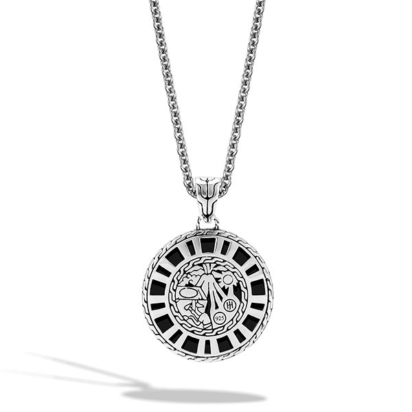 John Hardy Medium Round Pendant Palu Necklace Back View