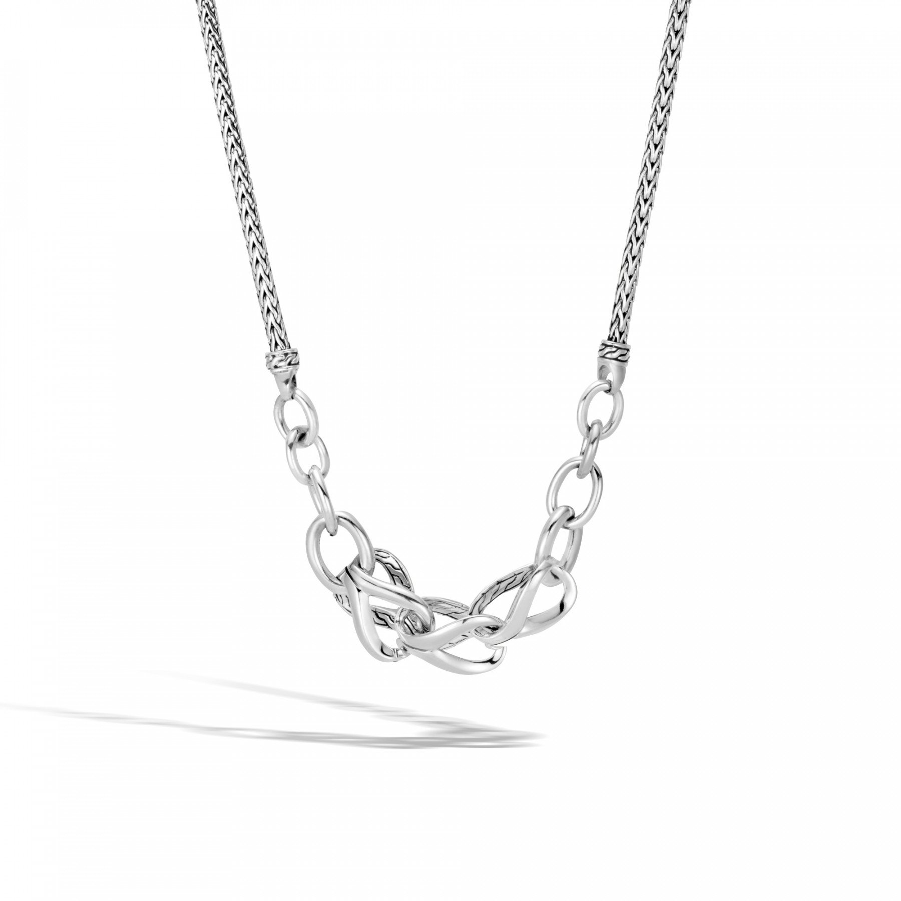 John Hardy Asli Classic Chain Link Station Necklace