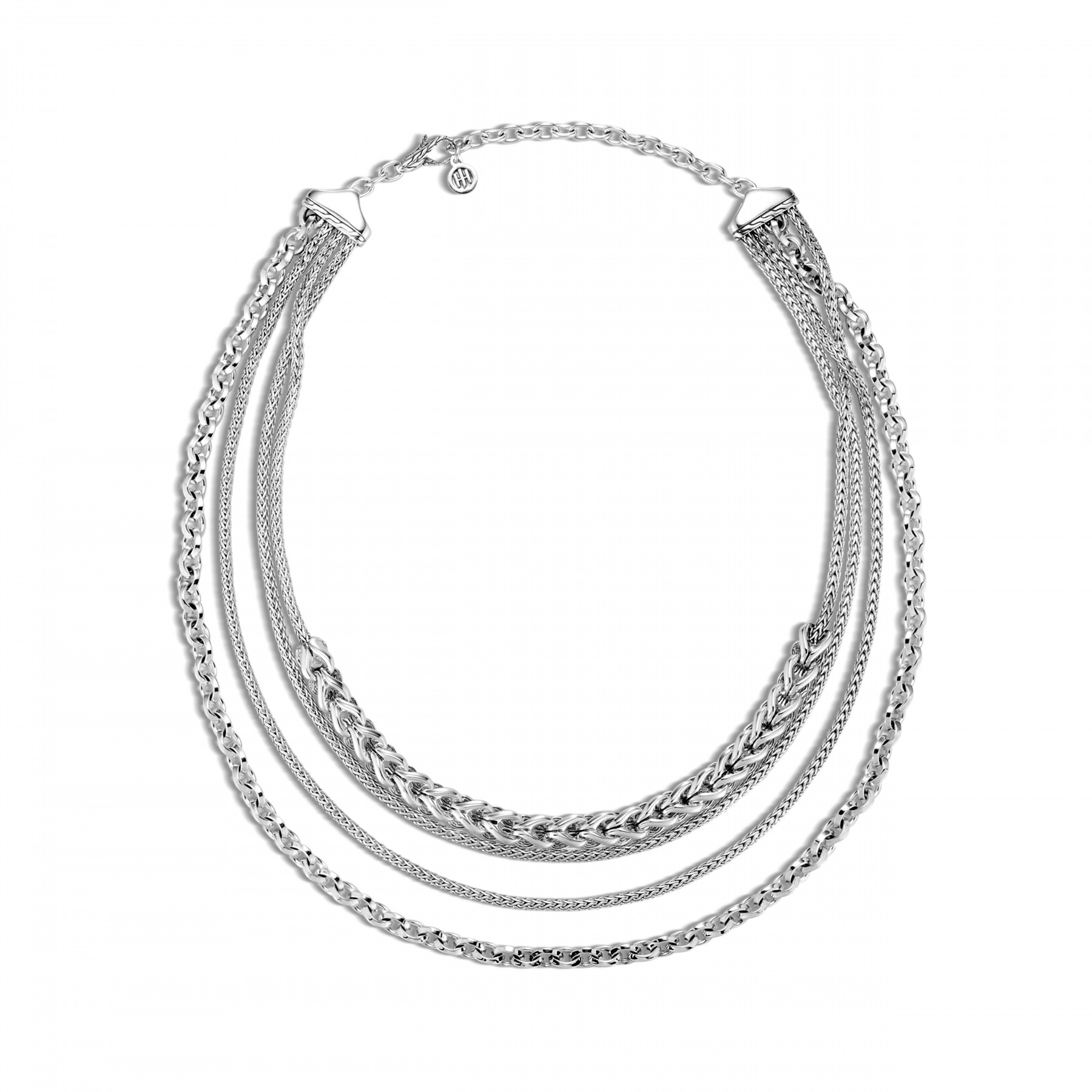 John Hardy Asli Classic Chain Layered Necklace In Sterling Silver