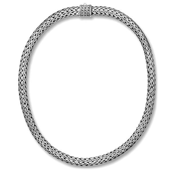 """John Hardy Classic Chain 7.45mm Silver 16"""" Necklace with Chain Clasp"""