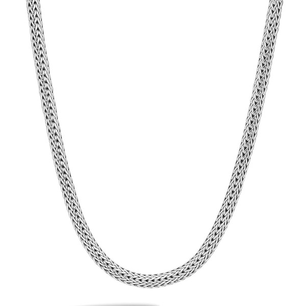 """John Hardy Classic Chain 6.26mm Silver 16"""" Necklace with Chain Clasp"""