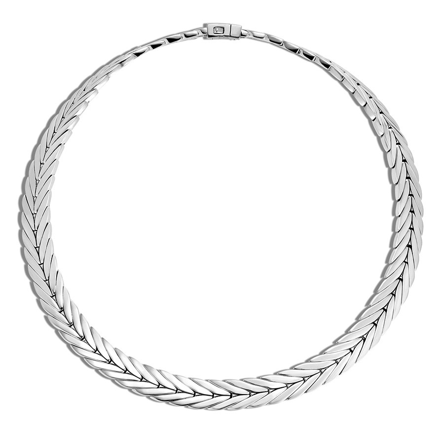 "John Hardy 11mm Modern Chain Silver 20"" Collar Necklace"