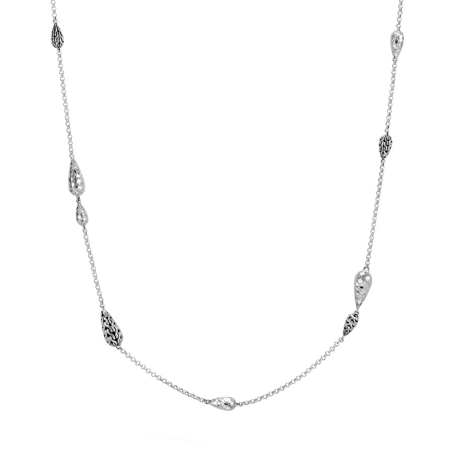 """John Hardy Hammered Silver 36"""" Classic Chain Necklace"""