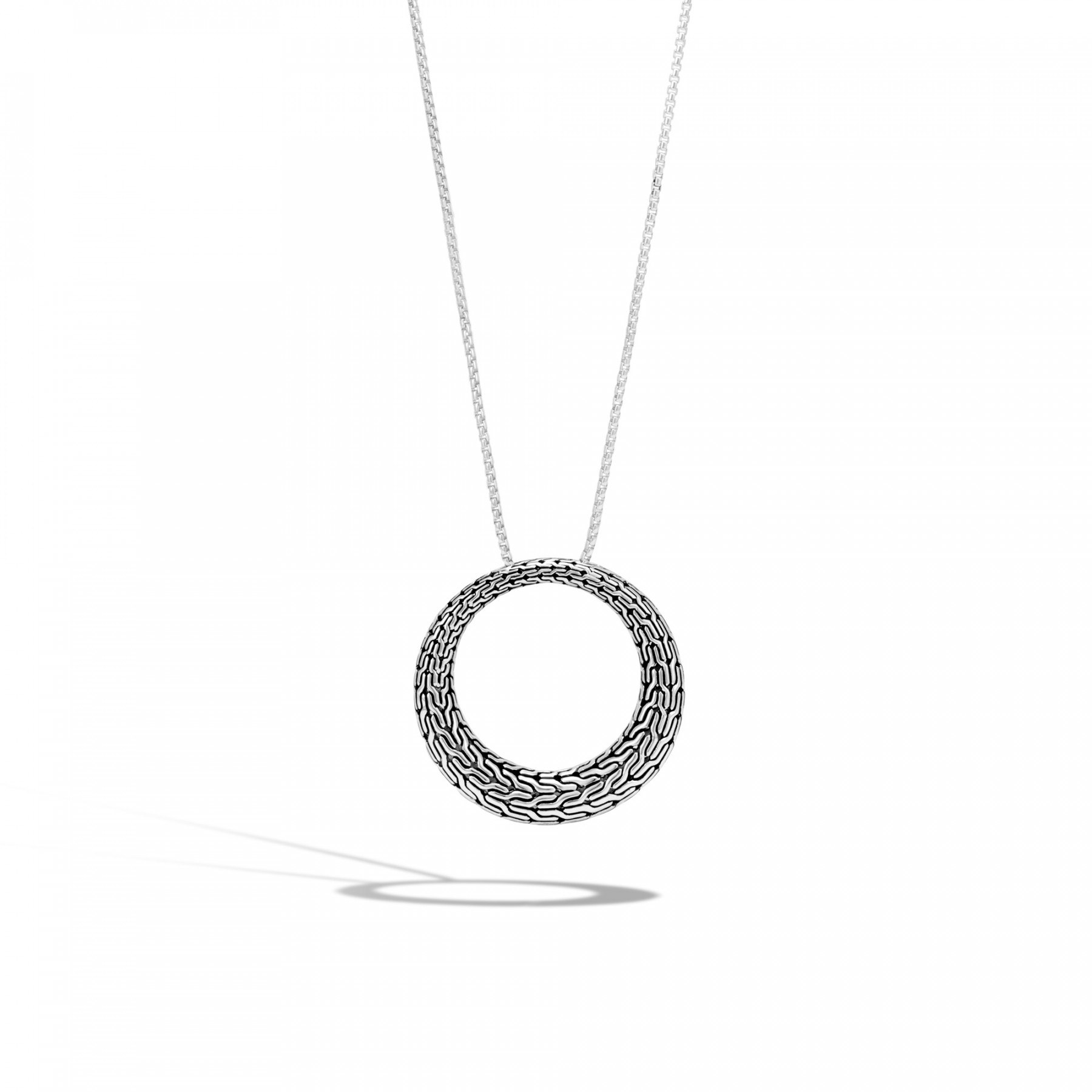 John Hardy Classic Chain Open Circle Necklace In Sterling
